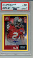 CHASE YOUNG 22/50 GOLD ZONE AUTO PSA 10 GEM MINT GRADED ROOKIE CARD BUCKEYES