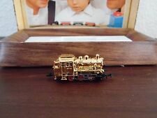 VINTAGE MARKLIN MINI-CLUB Z SCALE 8800 RARE VERGOLDET (GOLD)  LOCOMOTIVE W/BOX N