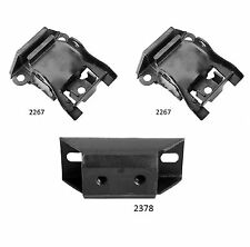 3 PCS FRONT MOTOR & TRANS MOUNT For 1970-1971 Chevrolet CAMARO 5.7L 3SPD