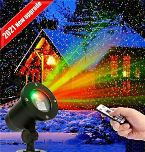 Christmas Laser R&G LED Projector Light Moving Outdoor Landscape Stage Xmas Lamp