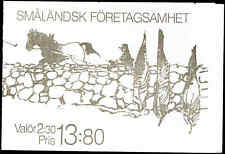 SWEDEN 1989 Scott 1760a, Smaland Business Booklet, VF  (02)