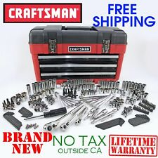 New CRAFTSMAN 260pc Piece Mechanics TOOL SET and 3 Drawer Tool Chest SAE Metric