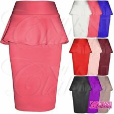Knee Length Polyester Peplum Formal Skirts for Women