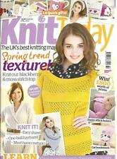 Knit Today UK British Knitting Magazine Back Issue #84, April 2013