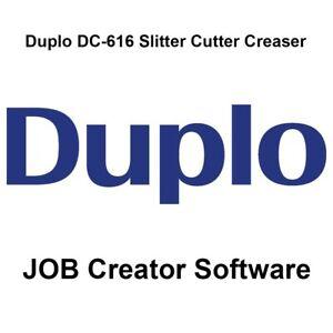 Duplo DC-616 Slitter/Cutter/Creaser JOB Creator Software (Comes on CD)