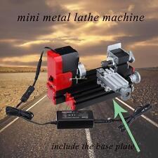 With Base Plate Motorized Turning Metal Lathe Machine Woodworking Metalworking