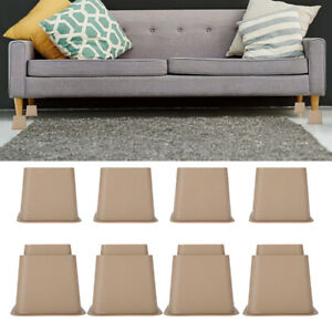 8Pcs Elephant Feet Lifter Adjustable Plastic Chair Bed Sofa Leg Risers Raisers