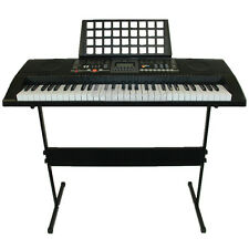 61 Keys Electronic keyboard USB MIDI Electric Piano with Stand Power Adaptor