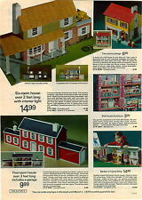 1973 ADVERTISEMENT Dollhouse Colonial Cottage Barbie United Aiplane Airlines
