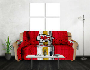 Kansas City Chiefs Sofa Cover Chair Couch Loveseat Slipcover Furniture Protector