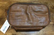 Travel Toiletry Bag Dopp Kit Leather Toiletry Bag Water Resistant for Men Brown