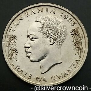 Tanzania 50 Senti 1983. KM#3. Fifty Cents coin. 🐇 Rabbit. Animals. Prd. Nyerere