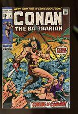 CONAN THE BARBARIAN #1-6,8 GOOD 2.0 BARRY SMITH ART 1970 MARVEL COMICS