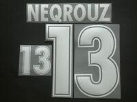 "NEQROUZ NOME+NUMERO MAROCCO HOME/AWAY OFFICIAL ""WORLD CUP 98 "" NAMESET"