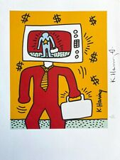Keith Haring | TV Man. High Quality Color Lithograph