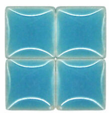 Mosaic Tiles - Caribbean Blue - Ceramic - 3/8 inch - 50 Tiles - Craft Supplies