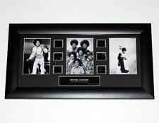 "MICHAEL JACKSON King Of Pop FILM CELL and 1970s TRIO PHOTO MONTAGE 11"" x 20"" New"