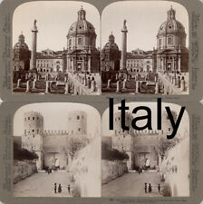 18 STEREOFOTOS ITALIEN ITALY ROM VENICE NAPLES FLORENZ Lot 4