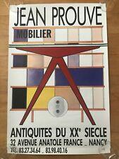Original vintage poster affiche JEAN PROUVÉ Perriand Mouille c.1980