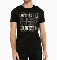 Guess Mens T-Shirt Black Size 2XL Foil Logo Graphic Crewneck Tee $39- 275