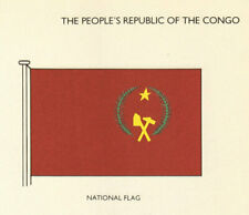 CONGO FLAGS. The People's Republic of the Congo. National Flag 1979 old print