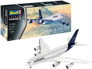 Revell 1:144 Airbus A380-800 Lufthansa New Livery Aircraft Model Kit - 03872