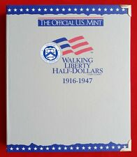 OFFICIAL US MINT COIN ALBUM FOR WALKING LIBERTY HALF DOLLARS - NEW