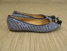 Sperry Topsider Blue White Tassels Ballet Flats Women's Size US 6 M Casual Shoes