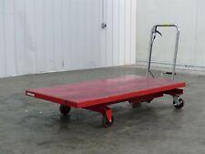 Dayton 42c18j Hydraulic Elevating Lift Cart Max Capacity 1000