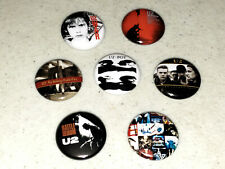 """U2 Button 7 1"""" Buttons Pin Pins Badge Badges Bono Edge Early Albums - Lot A"""