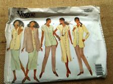 VOGUE VERY EASY pattern 1122 DRESS SKIRT TOP SKIRT PANTS loose fit button 6 8 10