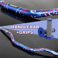 "1 1/8"" Handlebar Handle Fat Bar + Grip 4 Dirt Pit Bike ATV Quad Motocross Enduro"