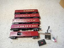 S SCALE AMERICAN FLYER #918, 952(2), 953 AND 954 RED PAINTED HEAVYWIEGHT SET