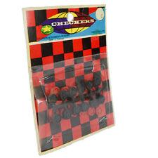 NIB Vintage Checkers Board Game Small Hong Kong Portable Pocket Mobile Old Tiny