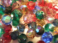 SALE!! 1Gr VINTAGE Swarovski & Czech Machine Faceted Glass Beads Ass. AB Colors