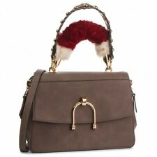 BORSA LIU JO CORDUSIO N68116 FUR HANDLE BAG GINGER BROWN MARRONE TRACOLLA  SALDI ff540b53002