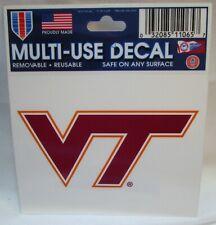 One Size Team Colors WinCraft NCAA Virginia Tech Hokies Decal Multi Use Fan 3 Pack