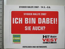 Aufkleber Sticker Rally 2007 - Hit Radio Vest (3969)