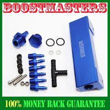 For Turbo Wastegate Vacuum Intake BLUE EMUSA 1/8 NPT 6 Port Vacuum Manifold Kit