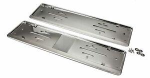 2x Original OP24 Kennzeichenhalter aus Edelstahl für alle Lexus Modelle  KHE_1