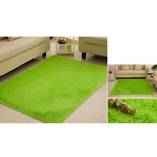Fluffy Rug Anti-Skid Shaggy Area Rug Bedroom Carpet Floor Mat Grass Green