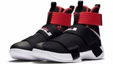 BASKETBALL SHOES NIKE LEBRON JAMES SOLDIER 10 BRED BLACK/RED UNIVERSITY SIZE 9.5