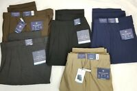 Croft & Barrow Mens True Comfort Dress Pants Pleated Classic Fit Comfort Waist