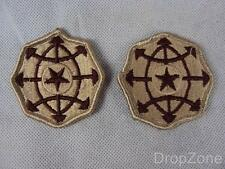 Pair US Army Criminal Investigation Command Desert Cloth Badges Patches