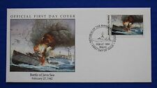 Marshall Islands (300) 1992 WWII: Battle of Java Sea Official FDC