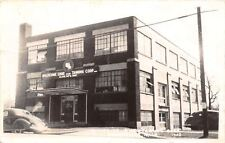 Greenville MI Wolverine Shoe & Leather Tanning~Glove Factory RPPC 1940s Cars