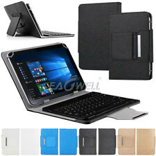 "For Android 7"" 8"" 10"" 10.1"" inch Tablet PC Universal Leather Case Keyboard Cover"
