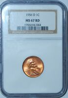 1956 D NGC MS67RD Red Lincoln Wheat Cent