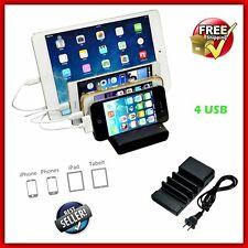Electronics Charging Station Tablet Multiple Device Mobile Phone Dock 4 USB Dock