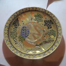 Assiette japonaise avec perroquet et large dorure